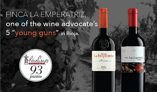 "FINCA LA EMPERATRIZ, ONE OF THE WINE ADVOCATE'S 5 ""YOUNG GUNS"" IN RIOJA"